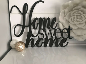 Home Sweet Metal Wall Art