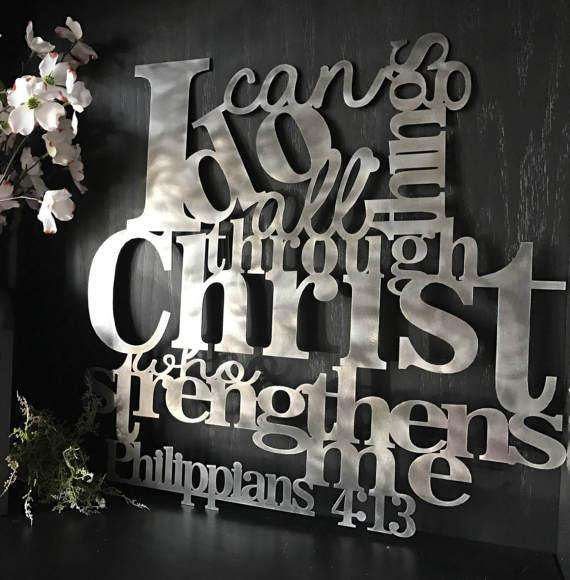 Philippians 4 13 Wall Art Bible Verse Metal Signs