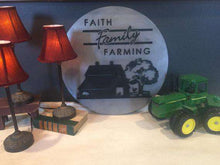 "Load image into Gallery viewer, 20""x20"" Faith Family Farming Layered Metal Wall Art"