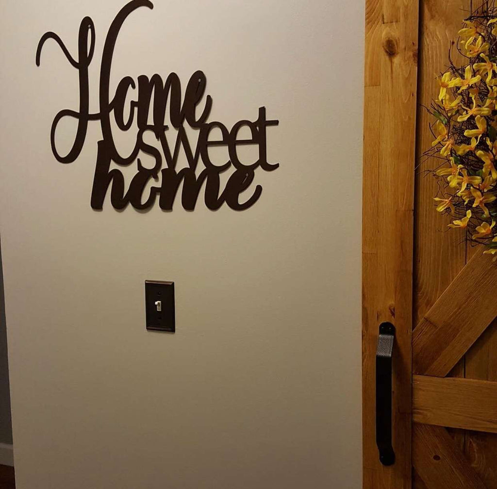 Metal Signs For Home Decor: Home Sweet Home Metal Wall Art