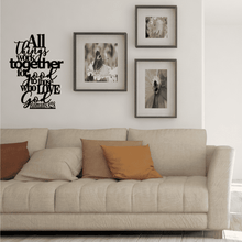 Load image into Gallery viewer, All Things Work Together For Good - Romans 8:28 Wall Art