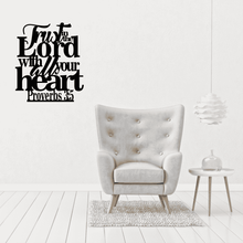 Load image into Gallery viewer, Proverbs 3:5 - Trust in the Lord Wall Art