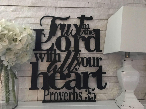 Proverbs 3 5 Trust In The Lord Wall Art The Metal Shack