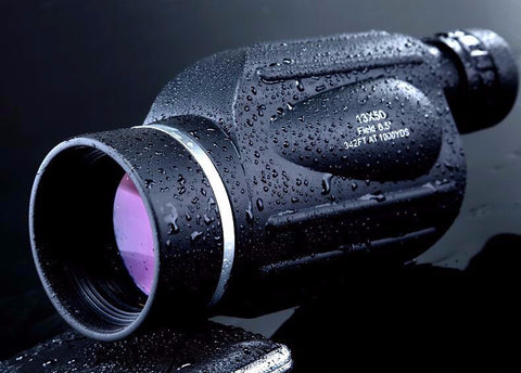 Waterproof monocular scope with rangefinder x