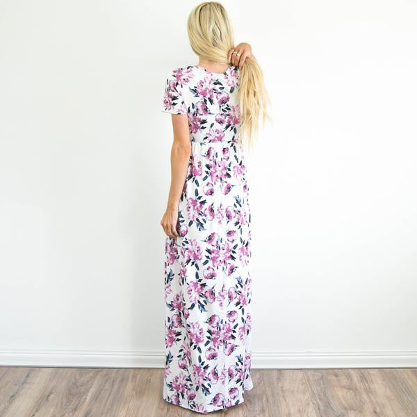 Kalila Floral Maxi in Ivory