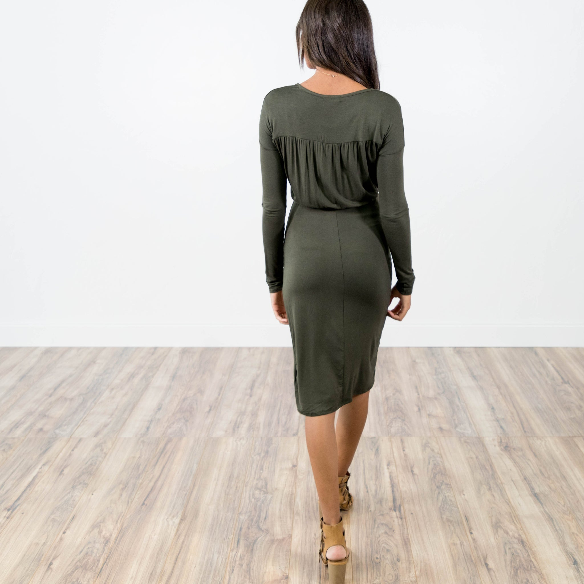 Nicole Dress in Olive