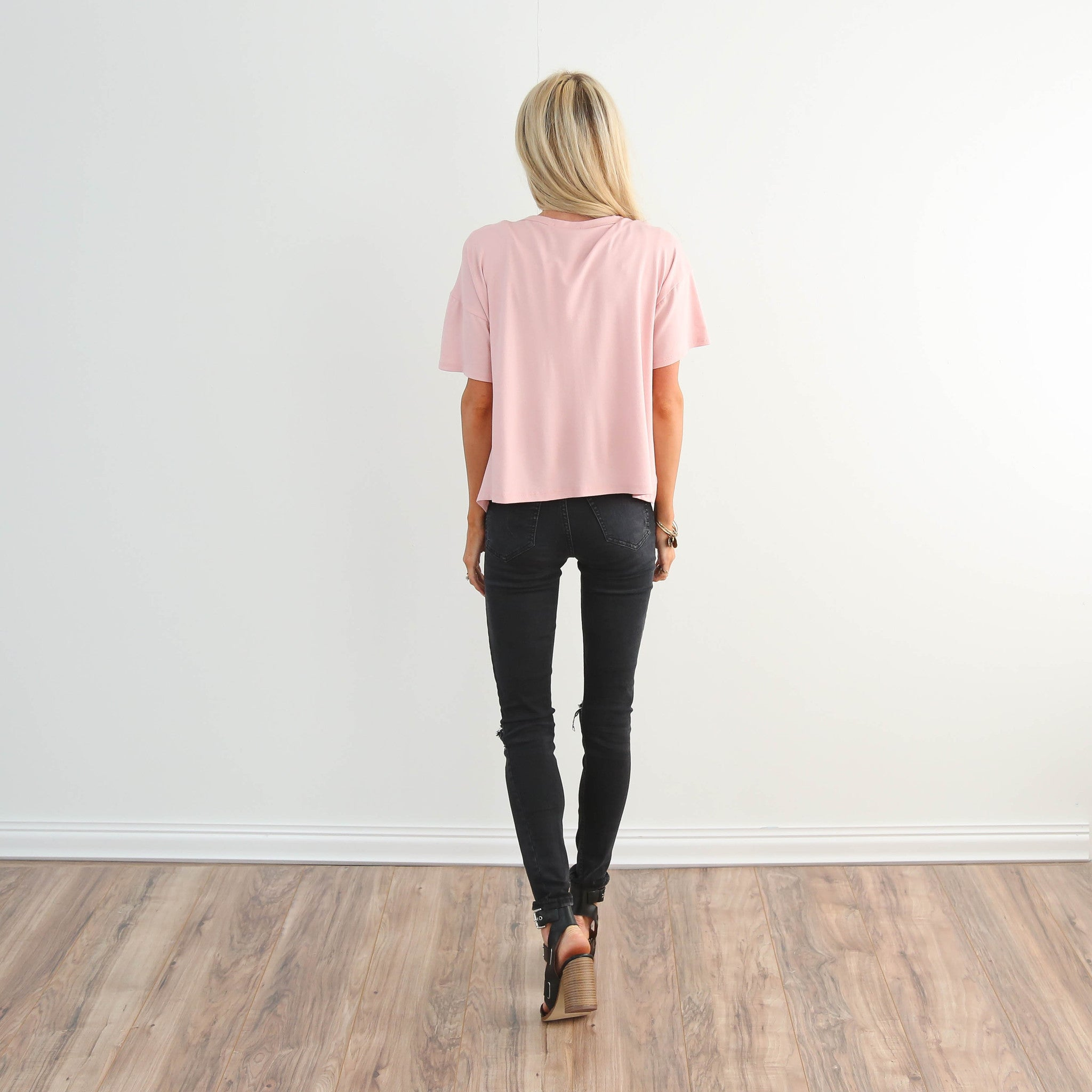 S & Co. Made with Love Top in Pink