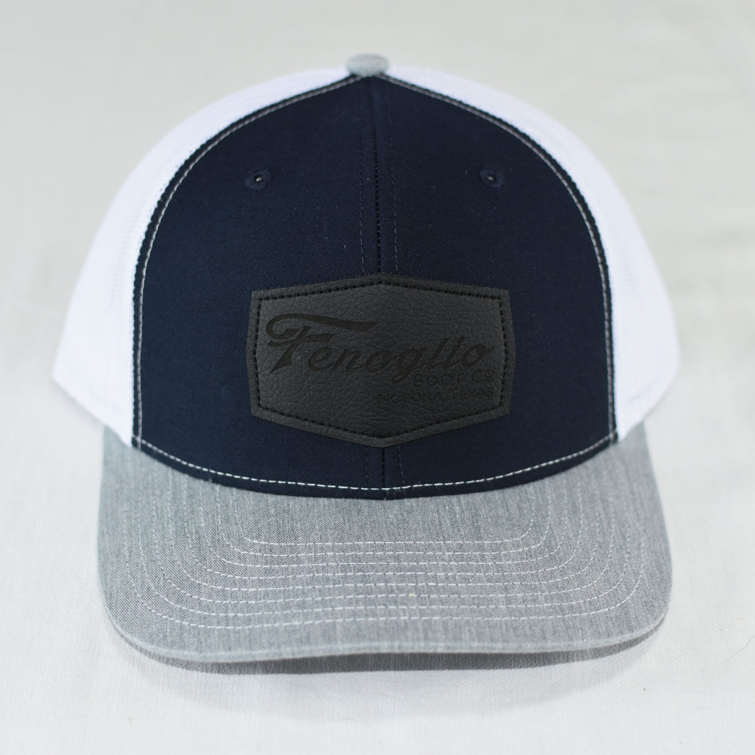Navy and Gray Mesh w/ Black Patch