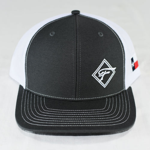 Gray Diamond F Mesh Hat
