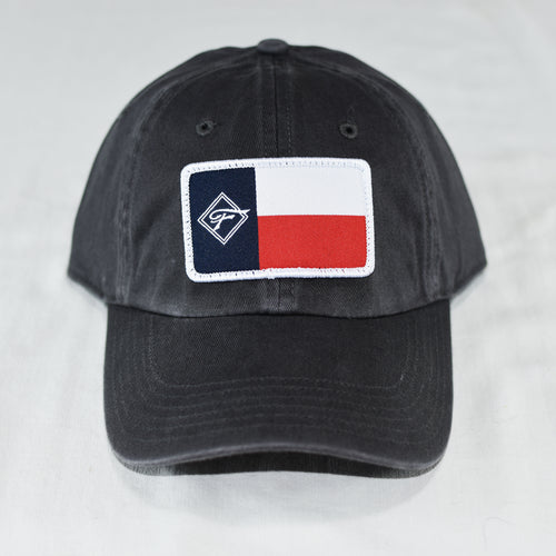 Gray Flag Adjustable Unstructured Hat