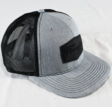 Load image into Gallery viewer, Gray with Black Mesh Leather Patch Hat