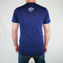 Load image into Gallery viewer, Indigo w/ White Logo T-Shirt