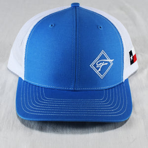 Sky Blue Diamond F Mesh Hat