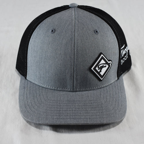 Gray & Black Diamond F Hat