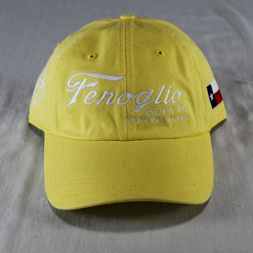 Yellow Adjustable Unstructured Hat