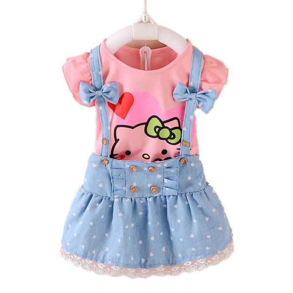 Hello Kitty Girls Summer Dress for 2017 - 9 sizes - 4 colors