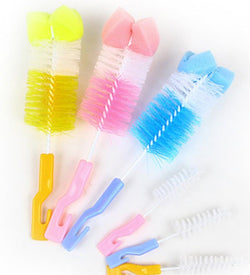 2 Piece Baby Bottle Cleaning Brush - 3 colors
