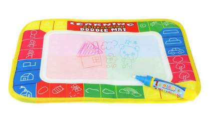4 color Mini Water Drawing Rug with Magic Pen