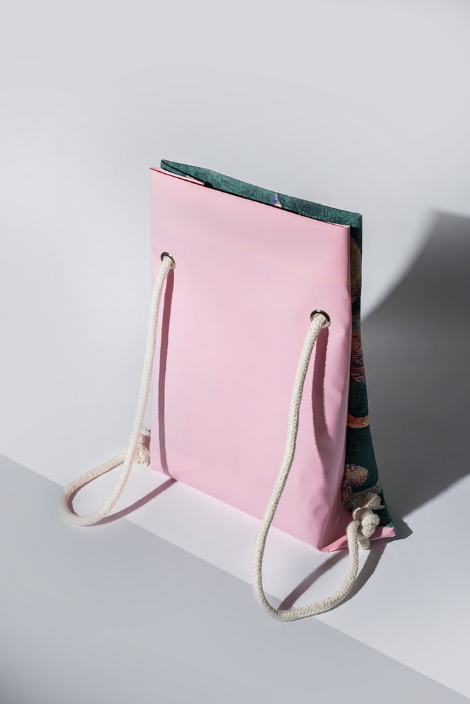 Convertible Green & Pink Backpack