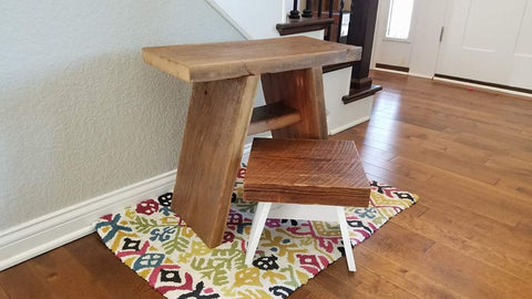 Custom Bench and Step Stool
