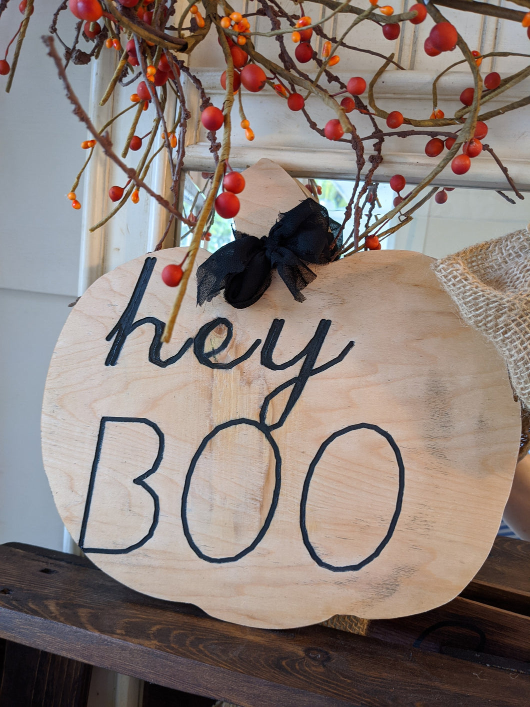 Hey Boo Sign
