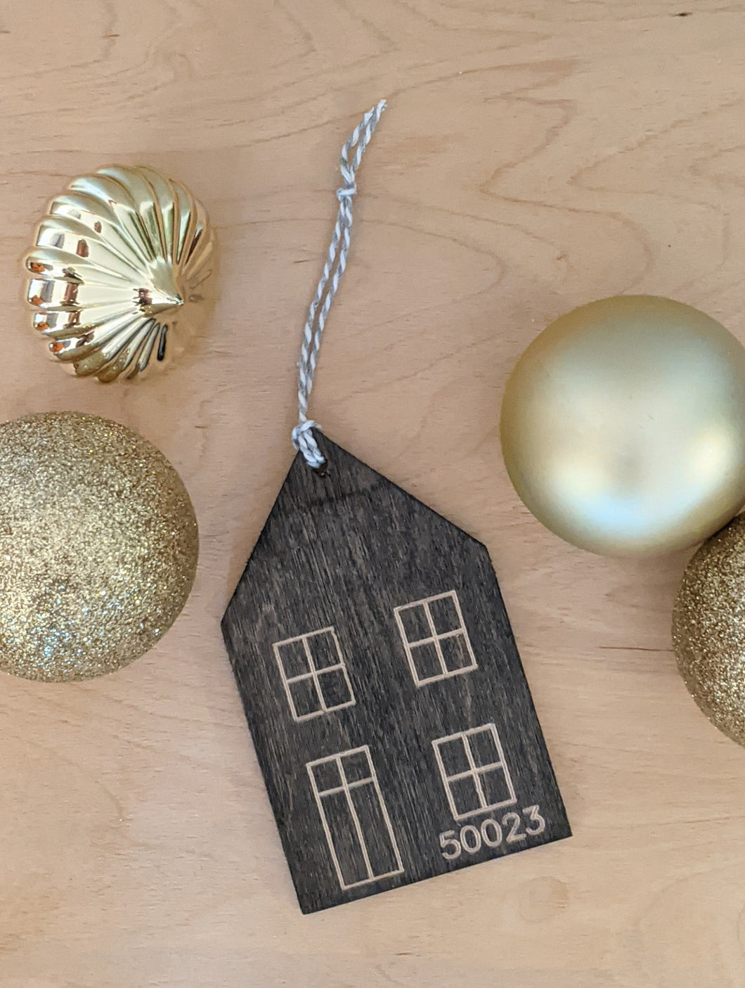 House Ornament, Custom Number, Zip Code or Year