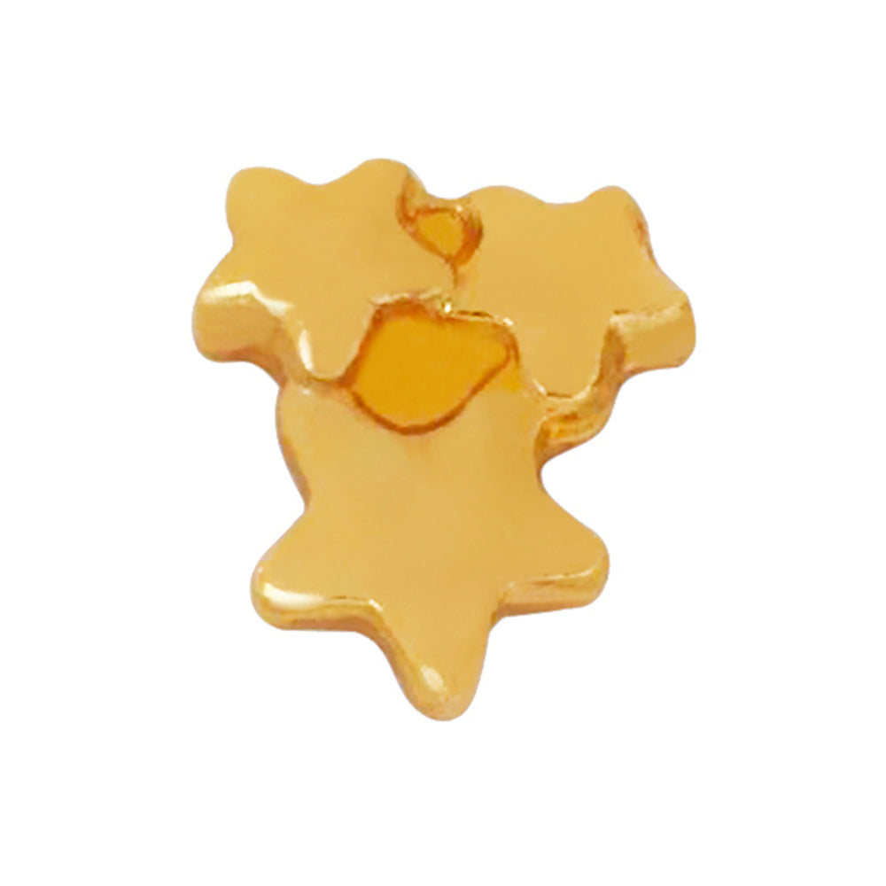 24KT Gold Plated Triple Star