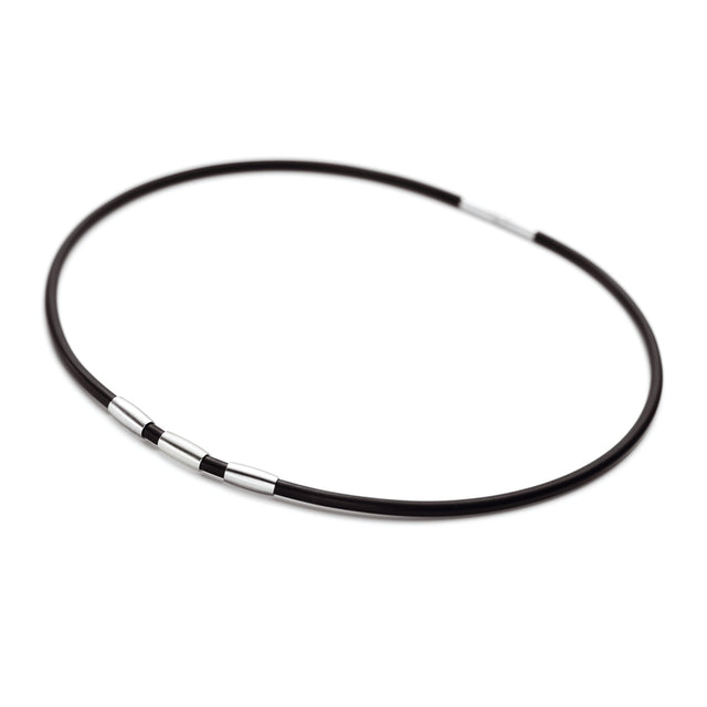 010.0132.00 TeNo Stainless Steel Rubber Necklace