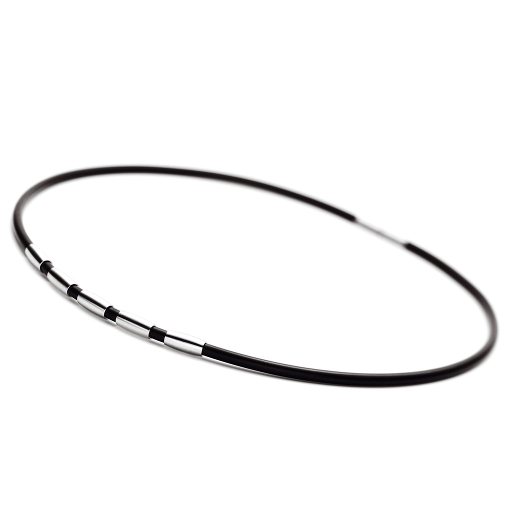 010.0133.00 TeNo Stainless Steel Rubber Necklace