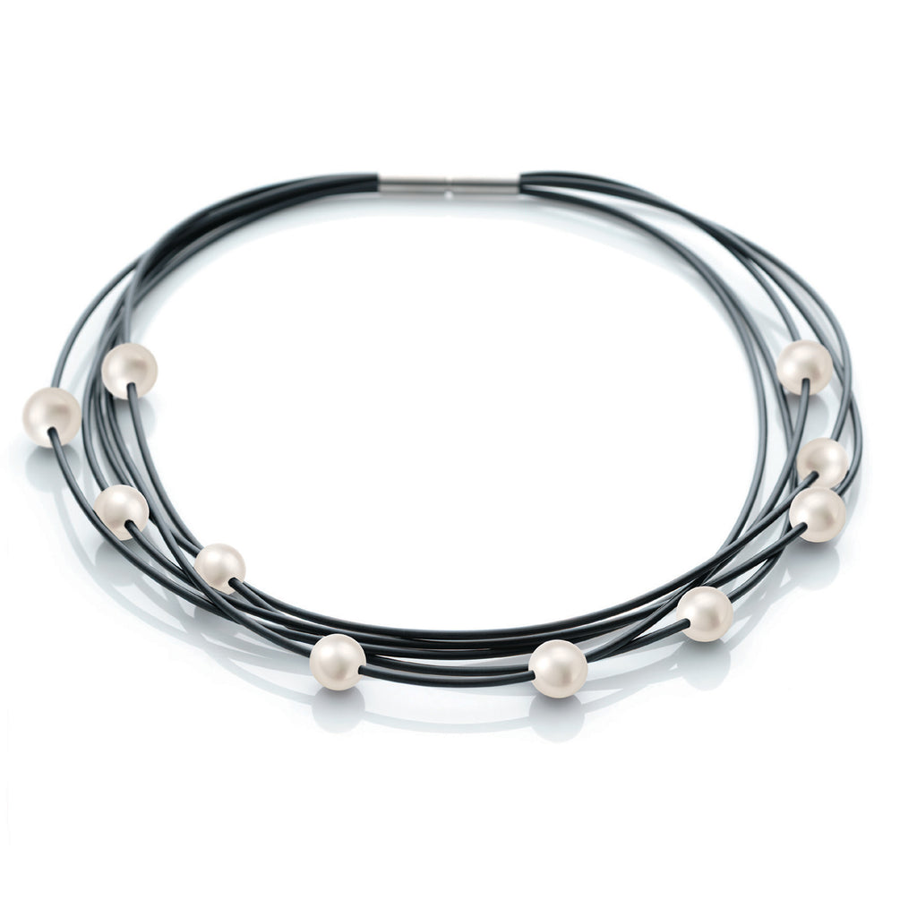 015.09PW01 TeNo Stainless Steel Pearl Necklace