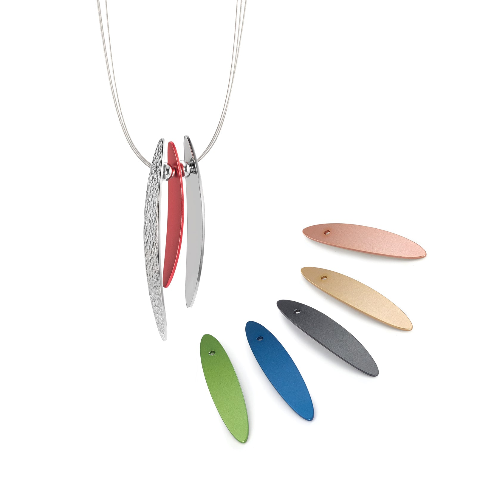 019.8900.WS2 TeNo Stainless Steel Wing Necklace
