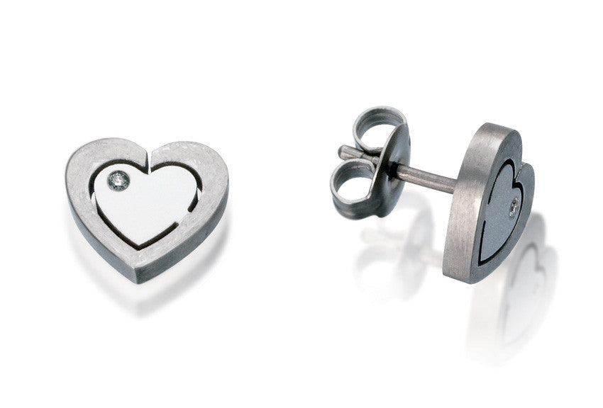 24396-02 The TeNo Titanium Earrings