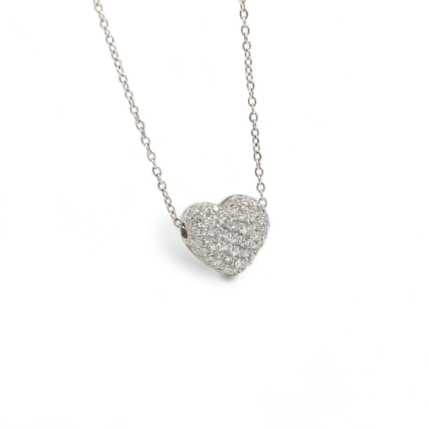 Fine Jewelry Collection: Small Diamond Heart Pendant Necklace
