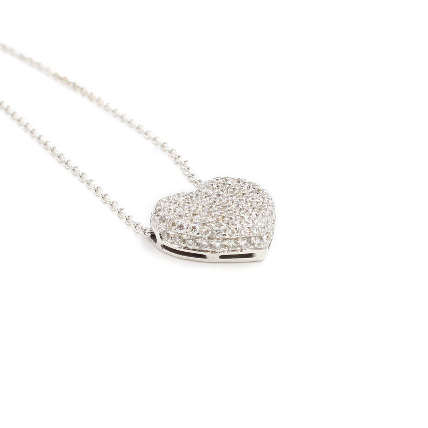 Fine Jewelry Collection: Diamond Heart Pendant Necklace