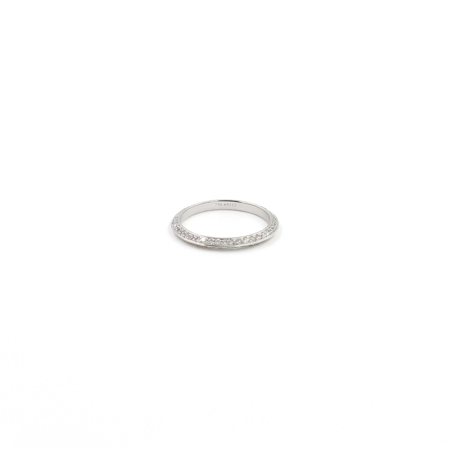 Fine Jewelry Collection: Diamond Knife-Edge Band in White Gold