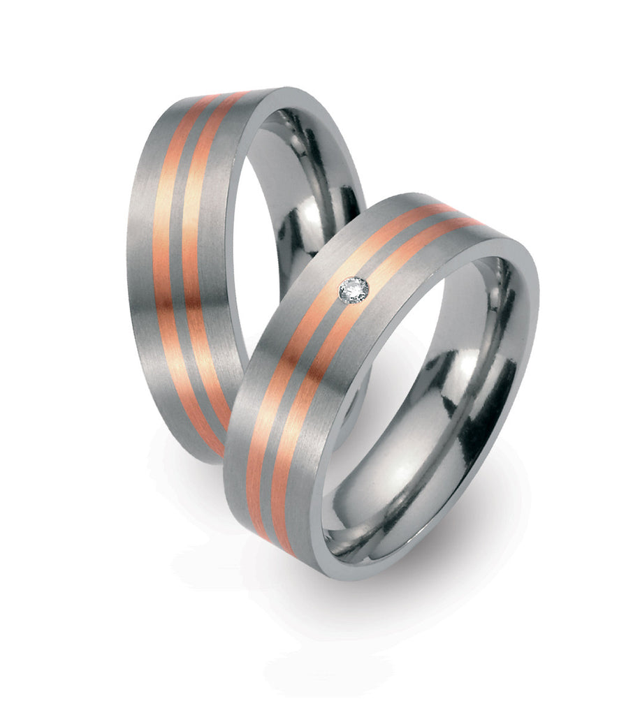 51146-02 TeNo Titanium Ring with Diamond