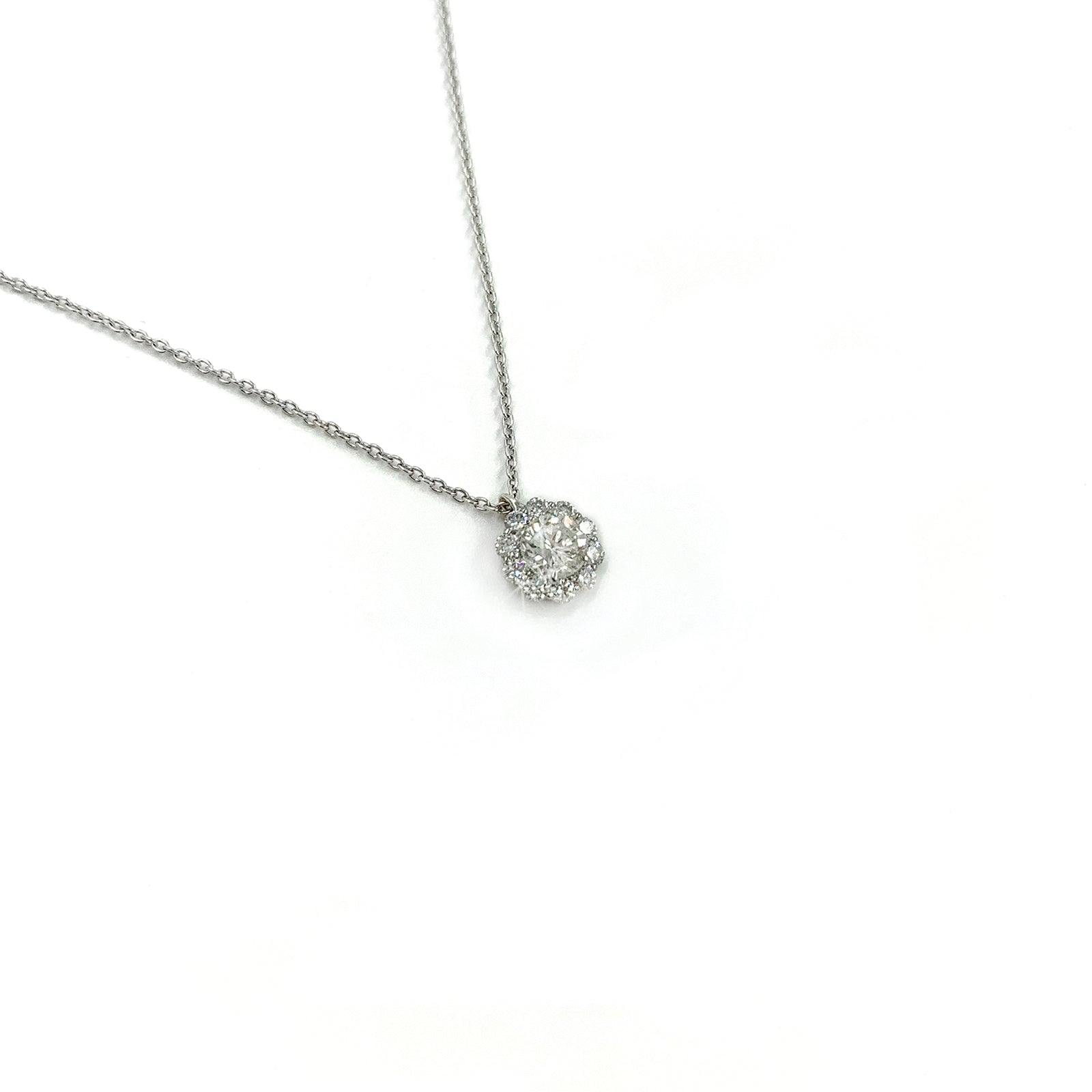 Fine Jewelry Collection: Diamond Cluster Pendant Necklace