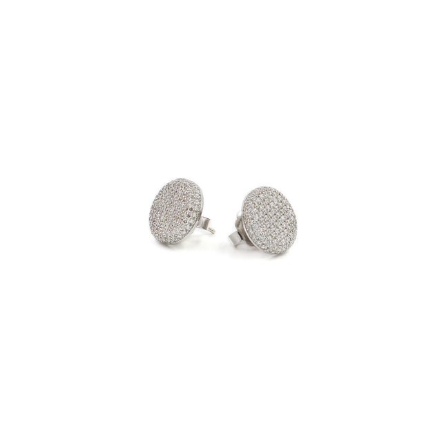 Fine Jewelry Collection: Pavé Diamond Button Earrings