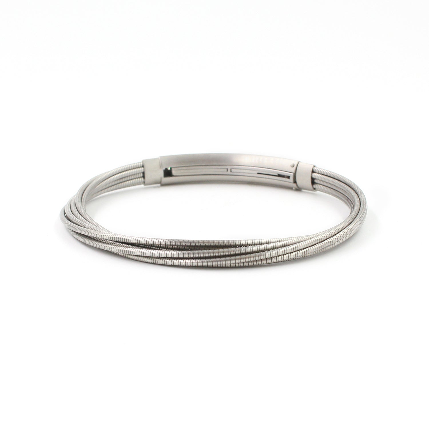 Fine Jewelry Collection: Platinum, Steel & Diamond Bracelet