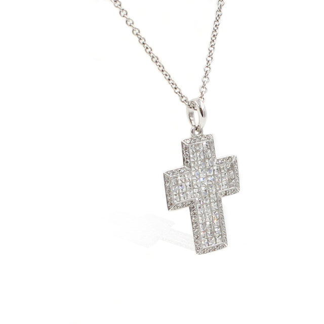 Fine Jewelry Collection: Diamond Cross Pendant Necklace