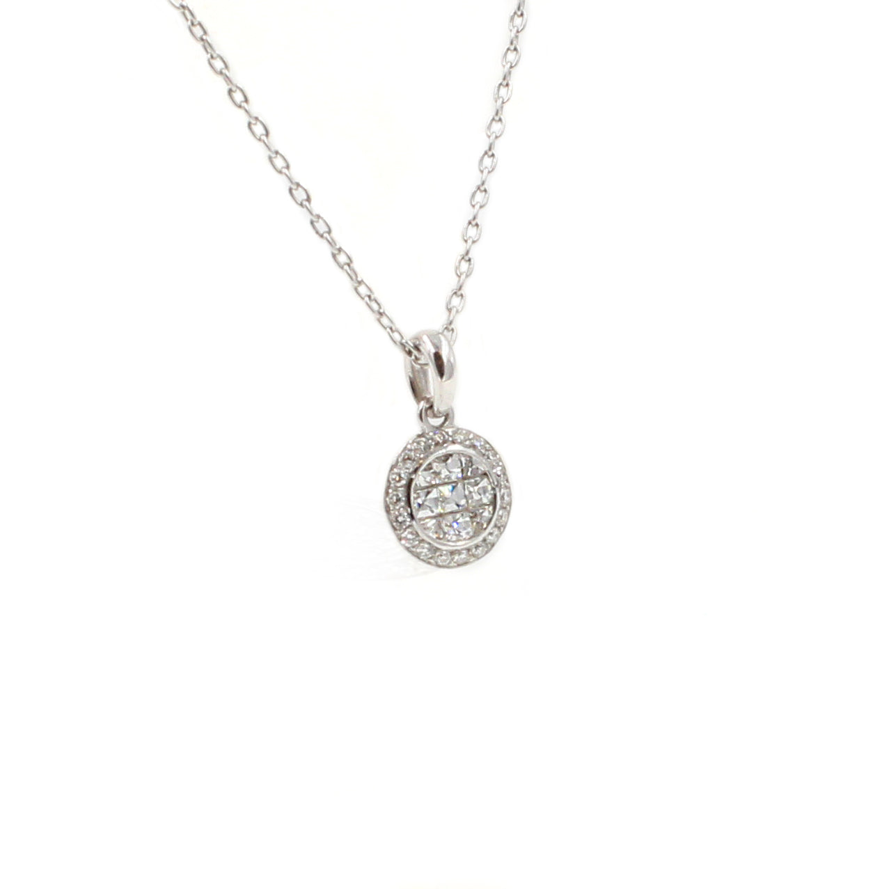 Fine Jewelry Collection: Small Diamond Pendant Necklace