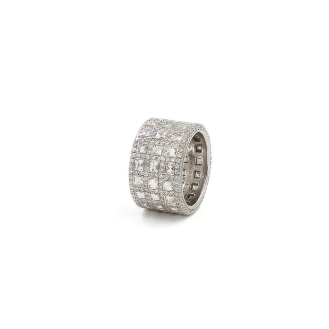 Fine Jewelry Collection: White Gold Blaze Cut Diamond Ring
