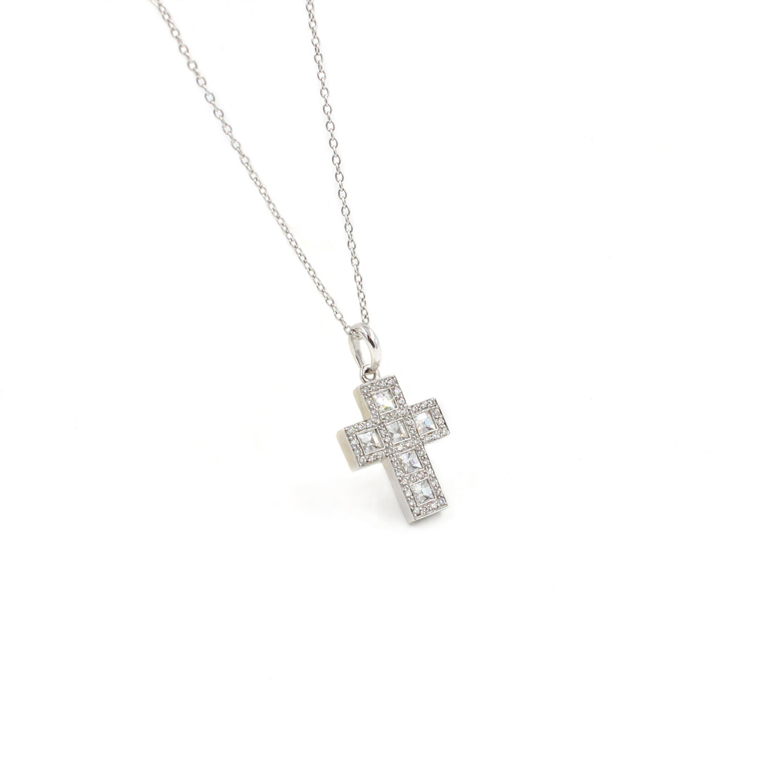 Fine Jewelry Collection: Small Diamond Cross Pendant Necklace
