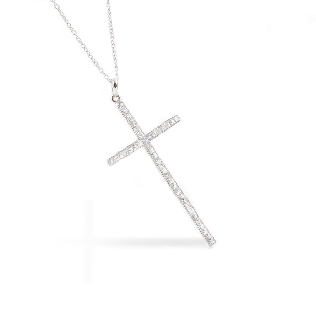 Fine Jewelry Collection: Diamond Long Cross Pendant Necklace