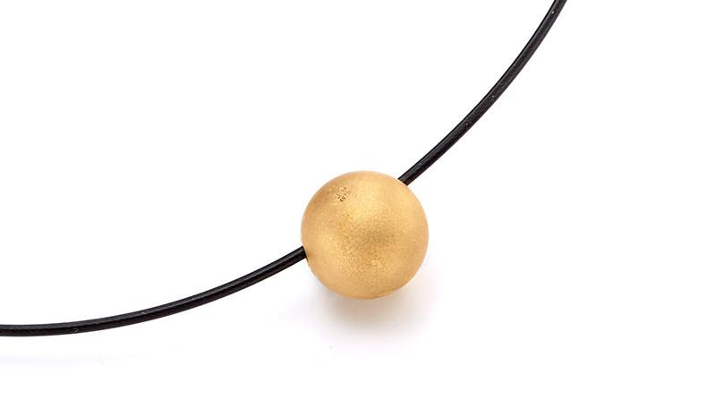 713328 Bunz Gold Ball Pendant