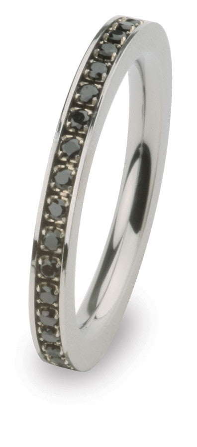 R265BL Steel Blaze Ring