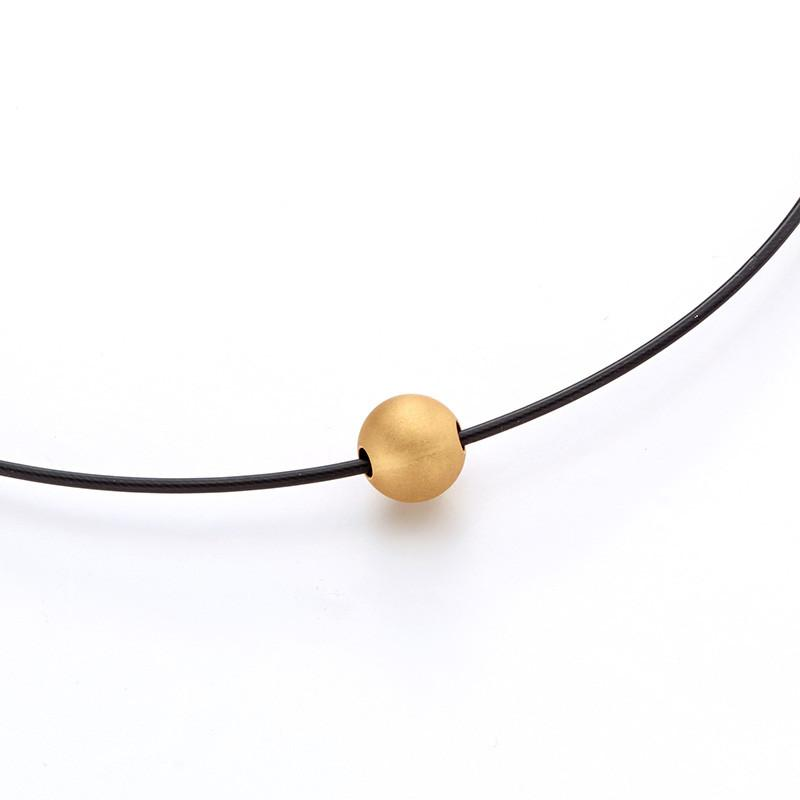 713298 Bunz Gold Ball Pendant