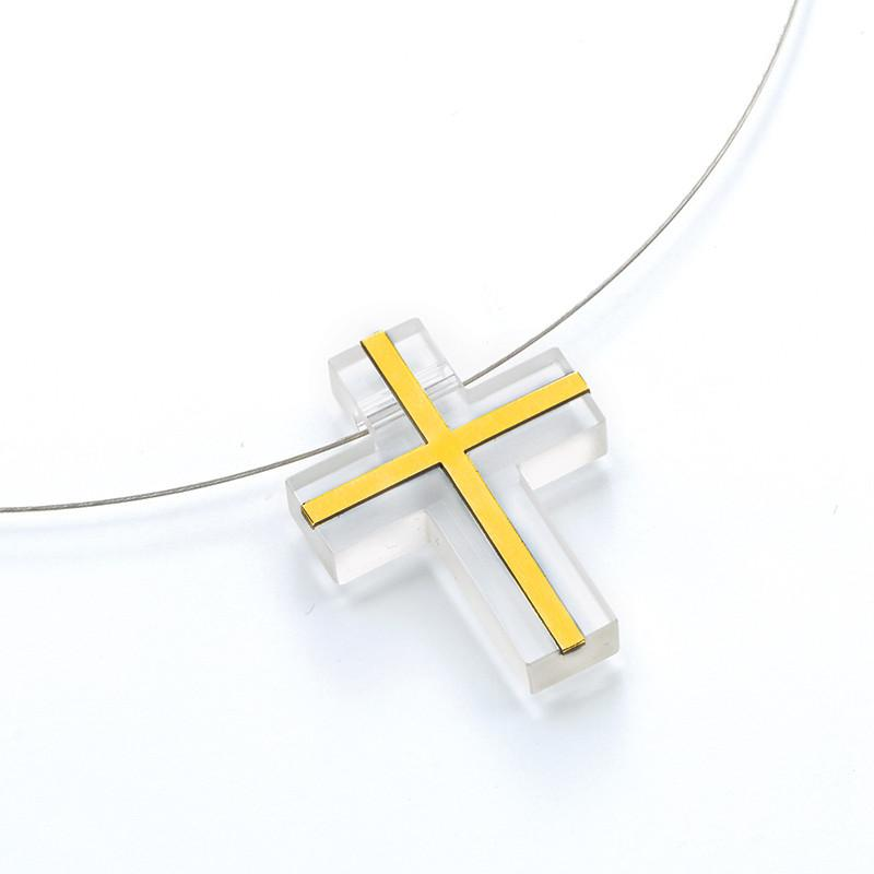 611686R Bunz Cross Pendant