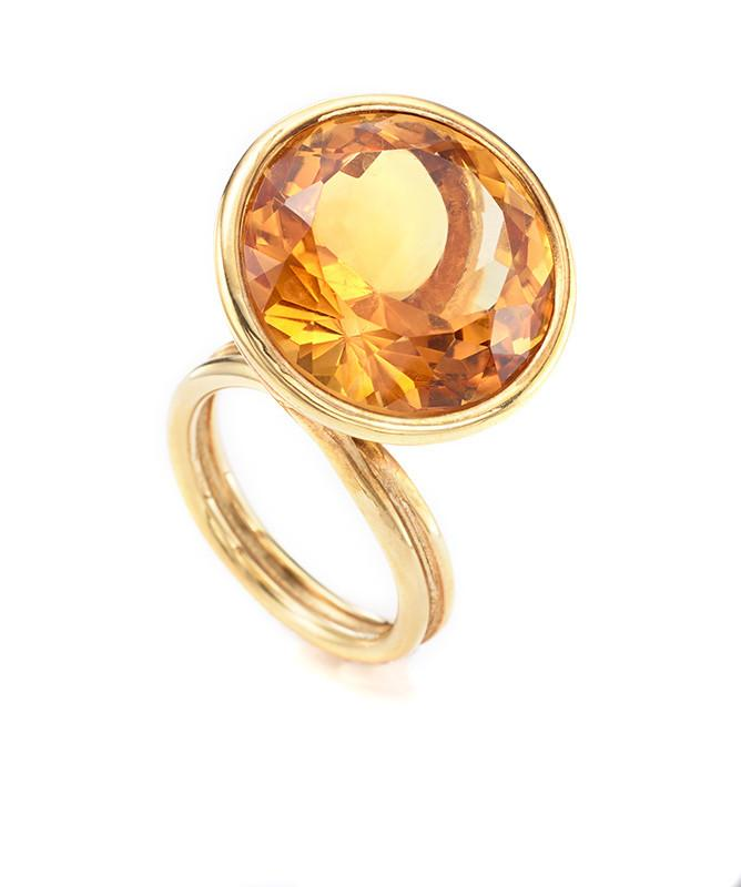 555Orange Gold & Orange Topaz Ring