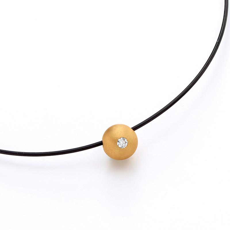 713288/017 Bunz Gold Ball Pendant